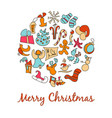 a set of cartoon images for the christmas vector image