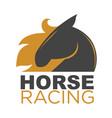 hore racing emblem vector image