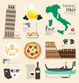 Italy Flat Icons Design Travel Concept vector image