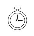 line chronometer element to training sport vector image