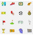 Soccer set icons vector image
