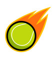 sport ball fire tennis vector image