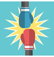 Two boxing gloves fighting vector image