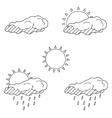 Weather forecast coloring book vector image