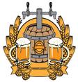 cask beer vector image vector image