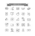 Money icons UI money elements vector image
