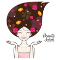 Young Woman With Flower On Head vector image