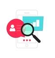 Mobile phone data analytics concept smartphone vector image