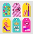 Fashion Pop Art Tags Set vector image