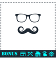 Hipster icon flat vector image