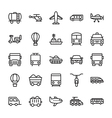 Transport Colored Icons 1 vector image