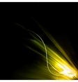 Smooth light lines vector image