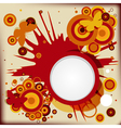 Abstract grunge background with explosion circles vector image