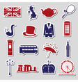 United Kingdom country theme symbols stickers vector image