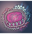 Autumn floral card design vector image