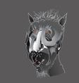 Head Of A Devil vector image