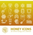 honey outline icons vector image