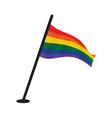 lgbt flag vector image