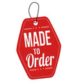 made to order red leather price tag vector image