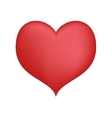 red loving heart feeeling passion design vector image