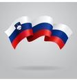 Slovenian waving Flag vector image