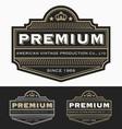 Vintage Badge logo label design vector image