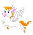White unicorn horse cartoon vector image