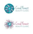 with coral symbol Logo design vector image