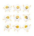 egg character - set of mascot vector image
