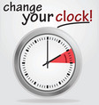 change your clock vector image vector image