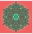 Mandala Oriental Floral Carpet Design vector image vector image