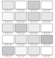 Blank gallery frames vector image