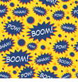 Comic Book Speech Bubbles Seamless Pattern vector image