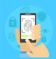 banner fingerprint scanning vector image