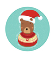 Bear in Christmas Sweater vector image