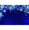 card design blue vector image