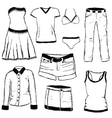 doodle clothes vector image