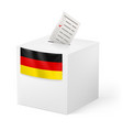 election in germany ballot box with voicing paper vector image