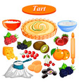 food and spice ingredient for fruit tart vector image