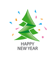 logo abstract green Christmas tree vector image