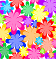 Seamless abstract texture of flowers vector image