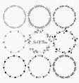 set of flora round frames for decoration vector image