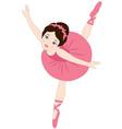 Brunette Ballerina vector image