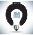Bad idea Light Bulb vector image