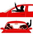 Road rage vector image vector image