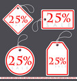set of bright white-red sale banners with various vector image