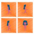 assembly flat shading style icon mummy halloween vector image