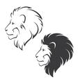 Lion head symbol vector image