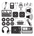 Digital Music and Icons Theme vector image
