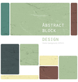abstract block design retro vector image vector image